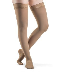 Sigvaris 841N Style Soft Opaque Thigh High Compression Stockings 15-20 mmHg